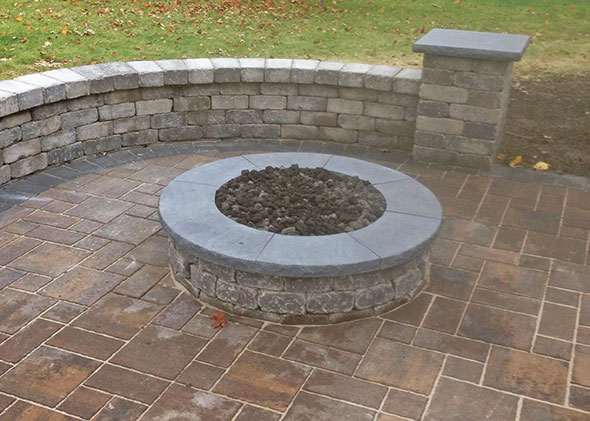 Firepit in center of Patio