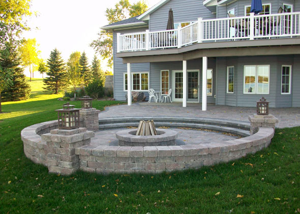 Gorgeous stone patio