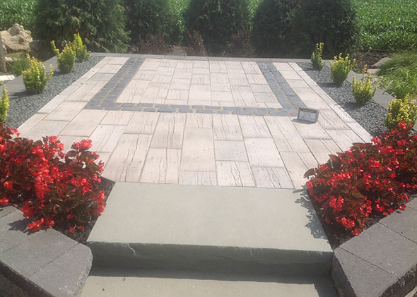 Barn Plank Paver Patio