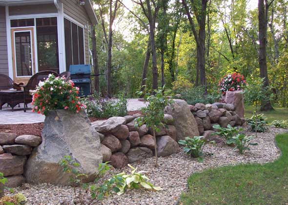 Planted stones to add design and appeal to home